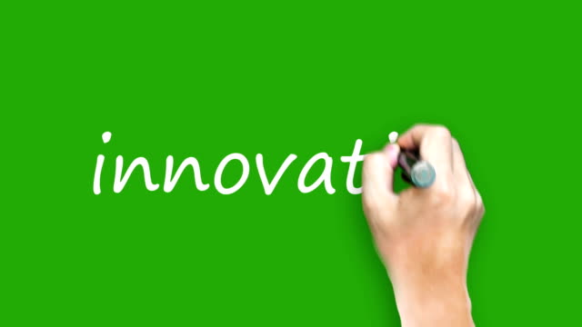 Innovation  - Writing with marker on green screen