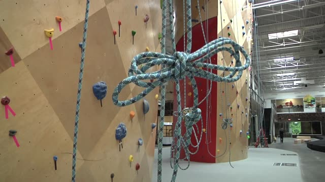 innovative rock climbing spaces merge fitness culture music art and more in somerville massachusetts - climbing wall stock videos & royalty-free footage