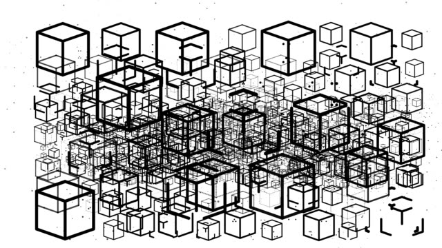 cube : innumerable (loop) - arrangement stock videos and b-roll footage