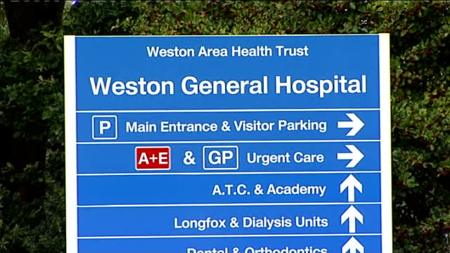 inquest finds hospital neglect contributed to death of toddler lucas wellstead somerset westonsupermare ext general view of weston general hospital... - weston super mare stock videos and b-roll footage