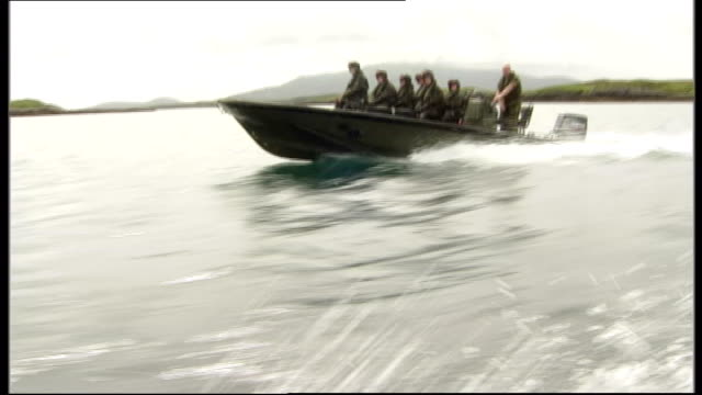 Inquest hears how teenaged girl drowned in army training exercise on Scottish loch August 2007 Outer Hebrides Loch Carnan EXT Army cadets in...