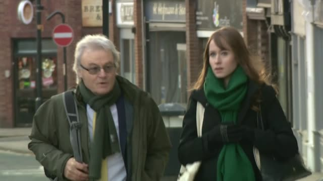 Inquest into death of Ann Maguire opens ENGLAND West Yorkshire Wakefield EXT Don Maguire and Emma Maguire along as arriving at Wakefield Coroner's...