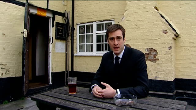 inquest into death of police inspector gary weddell reporter to camera general views of pub 'sun inn' where weddell went for a drink after killing... - mother in law stock videos & royalty-free footage