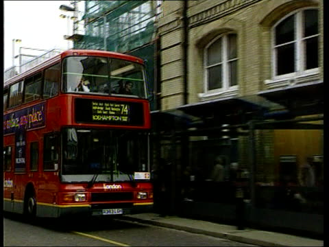 inquest opens into jill dando's death england london bus along past putney bridge station - jill dando stock videos and b-roll footage