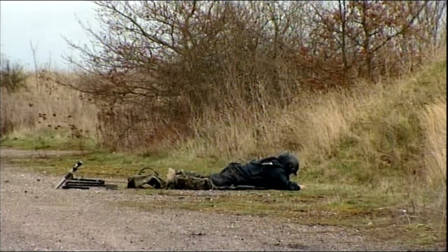 inquest rules bomb disposal specialist olaf schmid was 'unlawfully killed' tx 2732009 essex staff sergeant olaf schmid along wearing protective... - disposal stock videos and b-roll footage