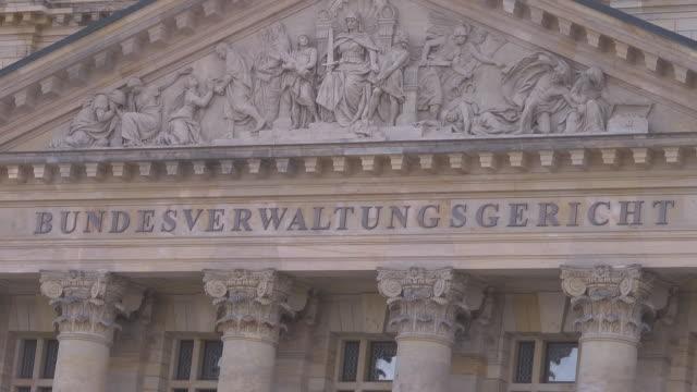 "inscription ""bundesverwaltungsgericht"" - justizwesen stock-videos und b-roll-filmmaterial"