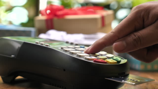 Insert A Credit Card into Credit card reader