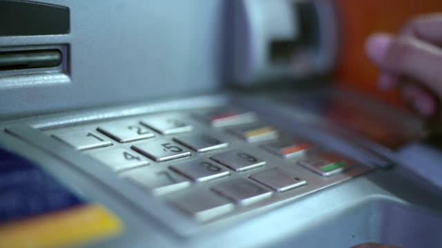 insert a debit card - bank financial building stock videos and b-roll footage