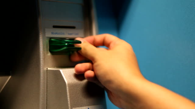 insert atm card - absence stock videos & royalty-free footage