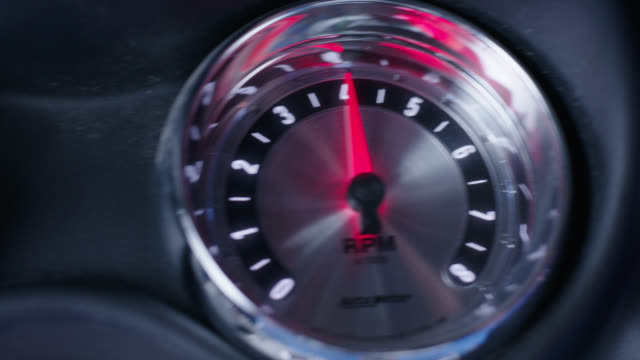 insert tachometer; various rpm, pegs several times - inserting stock videos & royalty-free footage