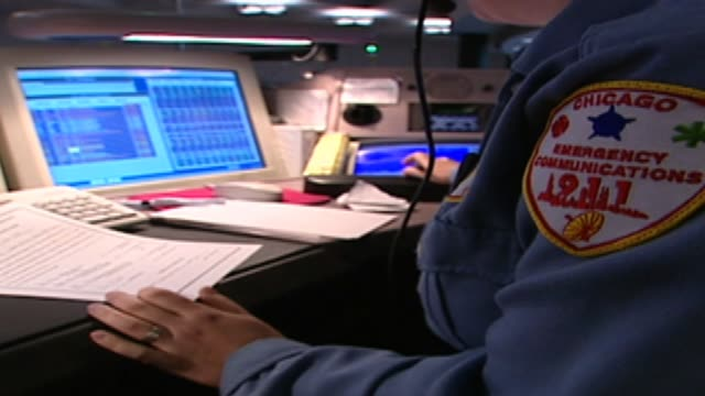 Inside 911 Call Center on May 25 2001 in Chicago Illinois