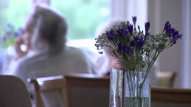 inside a care home - part of a series stock videos & royalty-free footage