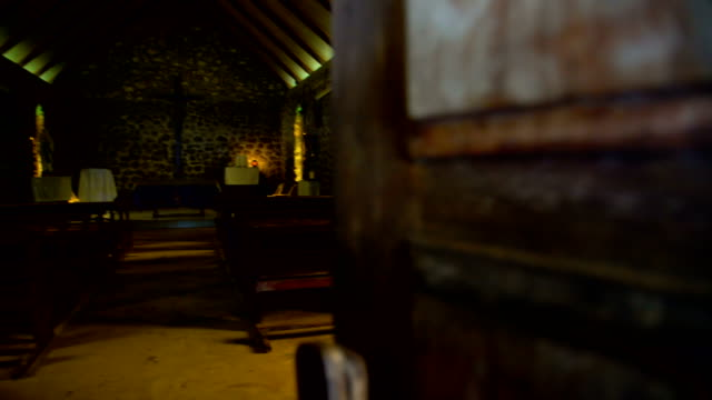 inside a church building vaitahu tahuata island marquesas - französisch polynesien stock-videos und b-roll-filmmaterial