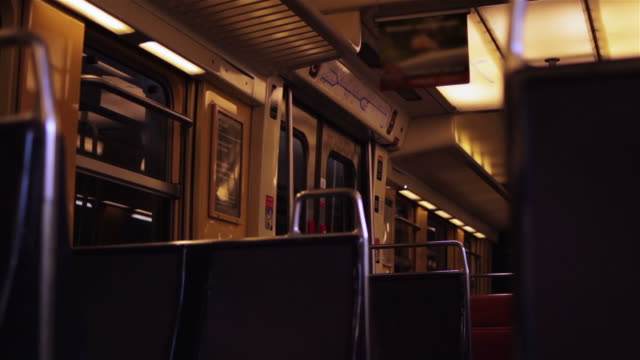 inside a commuter train - french culture stock videos & royalty-free footage