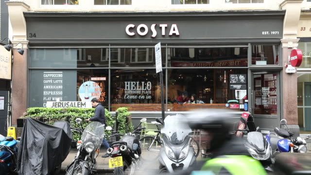 inside a costa coffee shop in london united kingdom on wednesday may 2 2018 - cafe culture stock videos and b-roll footage