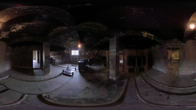 inside a crematorium at auschwitz - konzentrationslager stock-videos und b-roll-filmmaterial