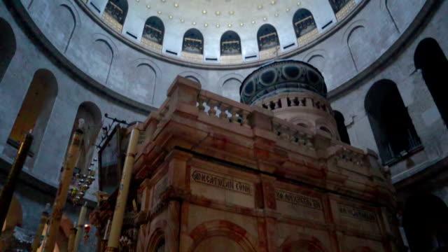 inside a grave jerusalem, israel  - stock video - jerusalem stock videos & royalty-free footage
