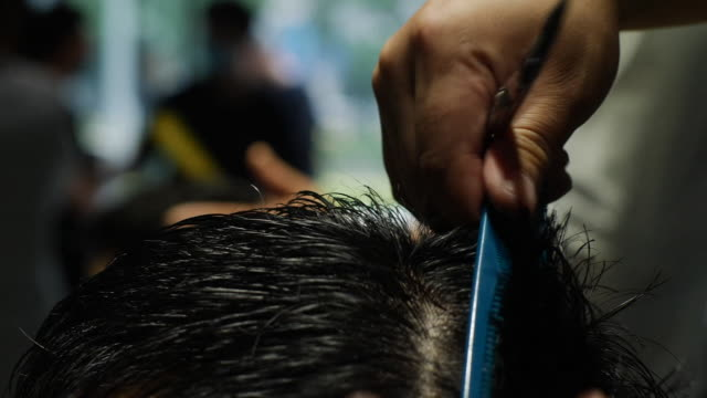 inside a hairdressing salon - cutting hair stock videos & royalty-free footage