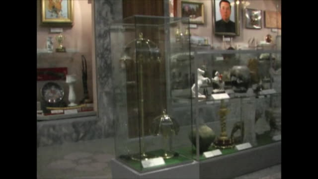 Inside a museum in Pyongyang North Korea
