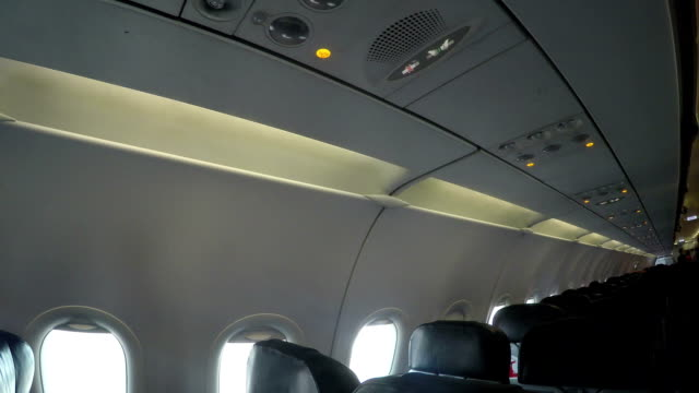 Inside a passenger plane
