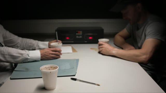 inside a police interrogation room - film montage stock videos & royalty-free footage