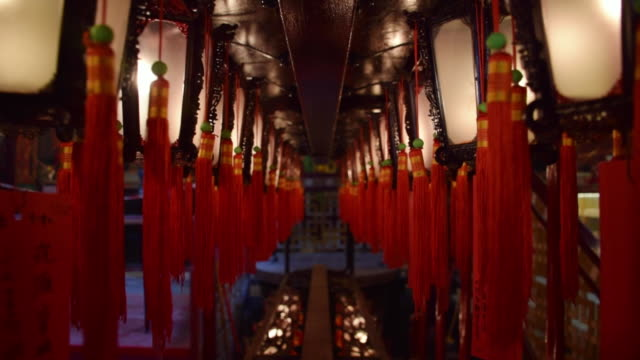 inside a temple in hong kong - pagoda stock videos & royalty-free footage