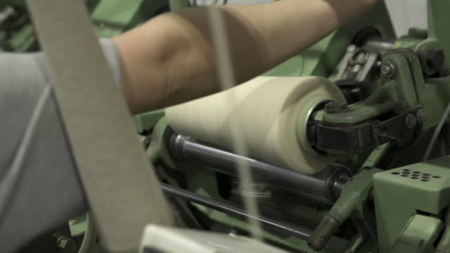 inside a textile mill - textile mill stock videos & royalty-free footage
