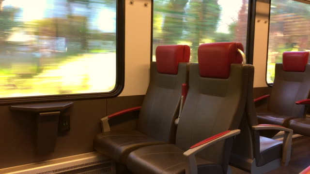 inside a train wagon with view - seat stock videos & royalty-free footage