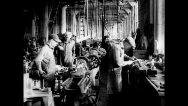 inside airplane factory / workers at various tasks assembling planes making parts and operating machinery early airplane companies on january 01 1953 - 1920 stock videos & royalty-free footage