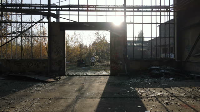 inside an abandoned warehouse - ruined stock videos & royalty-free footage