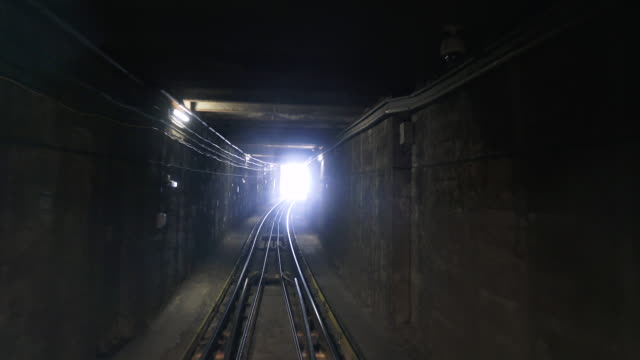 inside cableway tunnel. - underground train stock videos & royalty-free footage