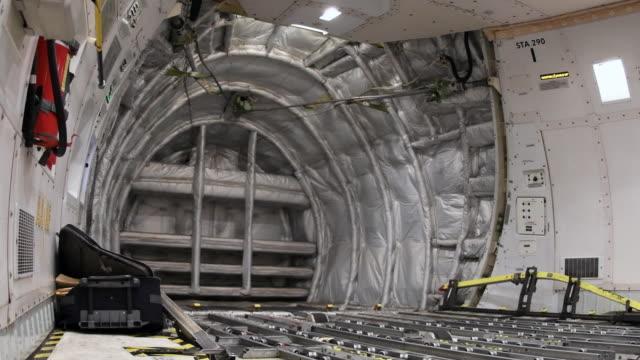 4k: inside cargo aircraft - cargo aeroplane stock videos & royalty-free footage