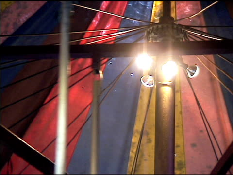 inside carrousel canopy tent spinning - carousel horse stock videos and b-roll footage