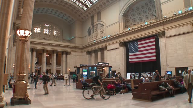 WGN Inside Chicago Union Station's Great Hall on September 13 2016