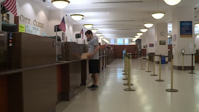 inside chicago's city clerk's office in city hall on july 2, 2016. - bureaucracy stock videos & royalty-free footage