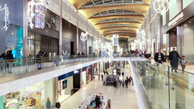 inside high cross shopping center - leicester stock videos & royalty-free footage