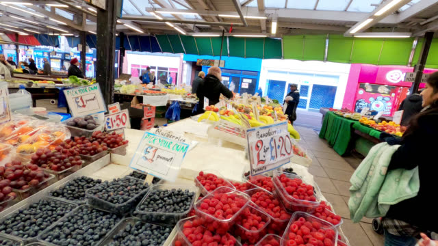 inside leicester market - leicester stock videos & royalty-free footage