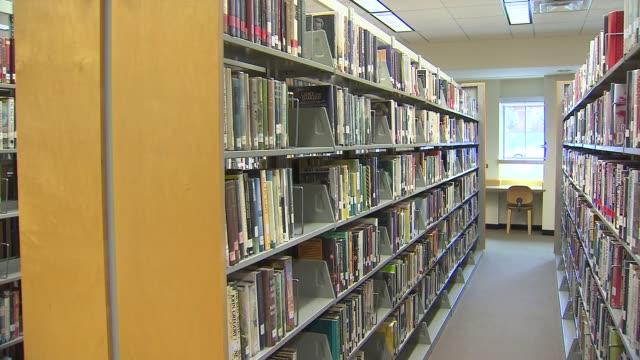 WGN Inside Maywood Library Library Books On Shelf on October 27 2013 in Maywood Illinois