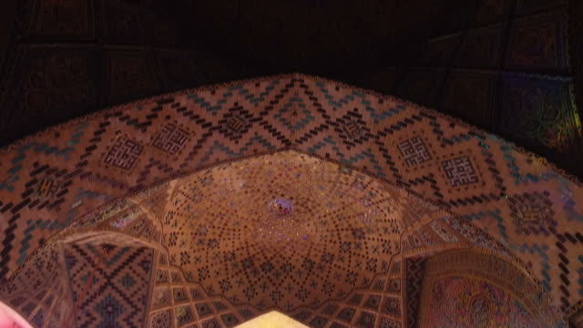 inside nasir al-mulk mosque (pink mosque) - marble wall stock videos and b-roll footage