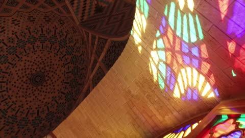 inside nasir al-mulk mosque (pink mosque) - mosque stock videos & royalty-free footage