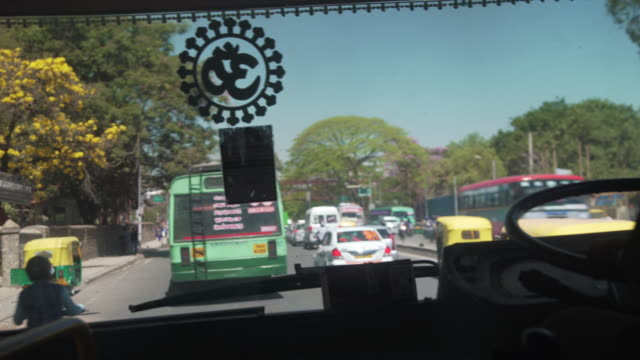 inside of a bus at india point of view - car point of view stock videos & royalty-free footage