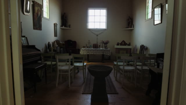 inside of a small church in a farm in victoria, australia - small stock videos & royalty-free footage