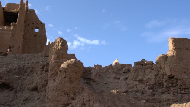 inside of a well preserved kasbah (medina) in the draa valley in saharan morocco - valley type stock videos & royalty-free footage