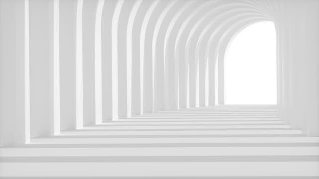 inuti korridoren,3d rendera - korridor bildbanksvideor och videomaterial från bakom kulisserna