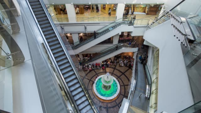 inside of dongtan metapolis shopping mall - south korea stock videos & royalty-free footage