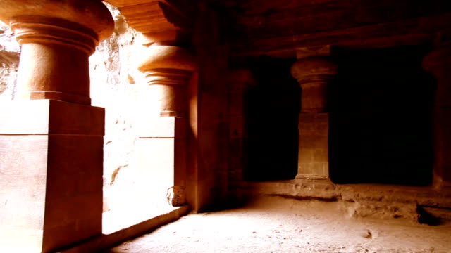 inside of elephanta island cave - famous place stock videos & royalty-free footage
