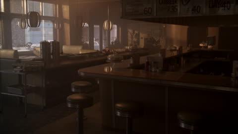 vídeos y material grabado en eventos de stock de ms inside of empty restaurant / unspecified - separación