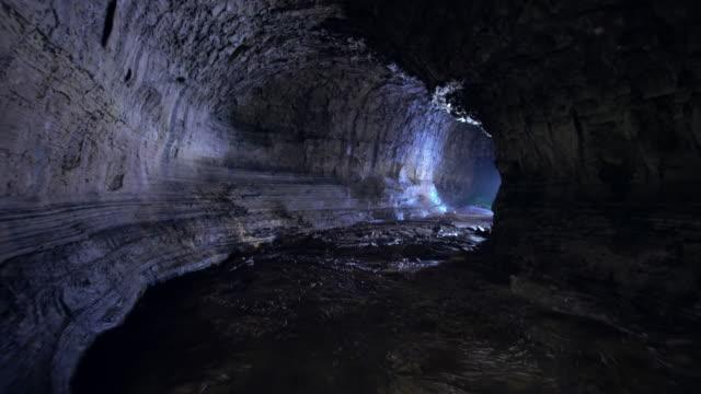 inside of manjanggul cave / jeju-si, jeju-do, south korea - cave stock videos & royalty-free footage