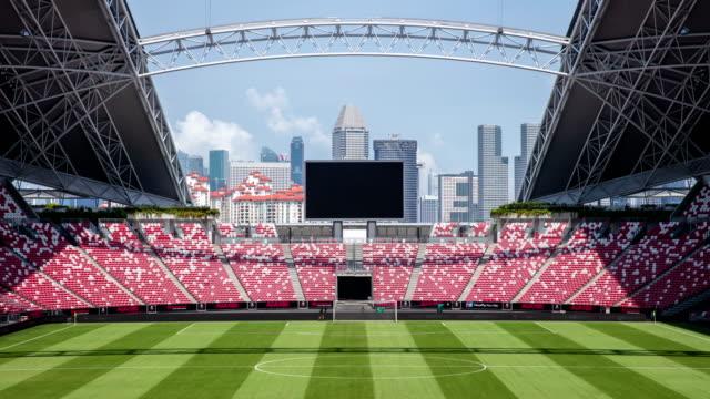inside of national stadium, singapore - スタンド席点の映像素材/bロール