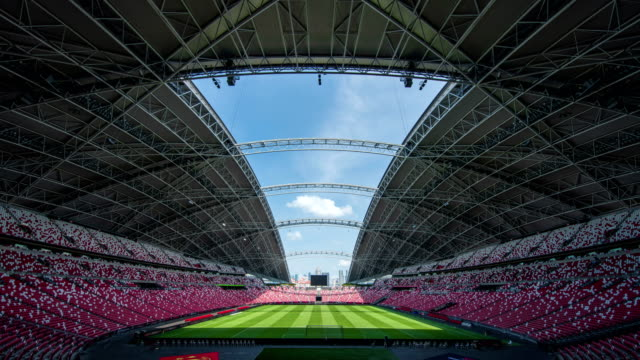 inside of national stadium, singapore - distorted stock videos & royalty-free footage